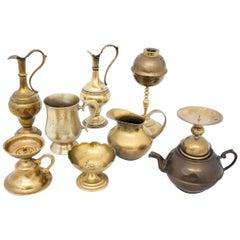Set of Brass Indian Utensils