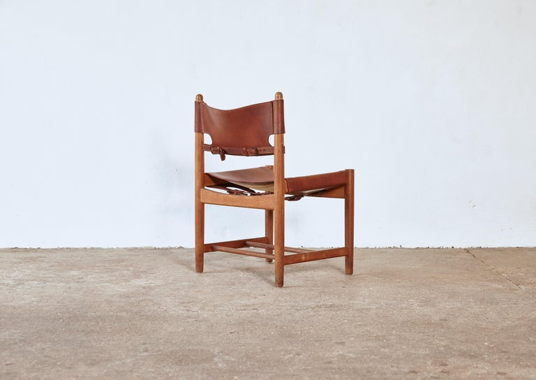 Set of early Børge 'Borge' Mogensen Spanish Dining Chairs, Denmark, 1960s 4