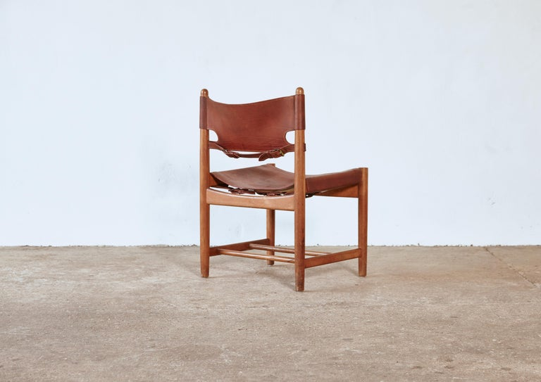 Set of early Børge 'Borge' Mogensen Spanish Dining Chairs, Denmark, 1960s 5
