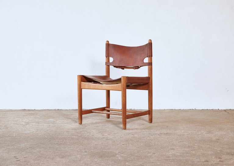 Set of early Børge 'Borge' Mogensen Spanish Dining Chairs, Denmark, 1960s 6