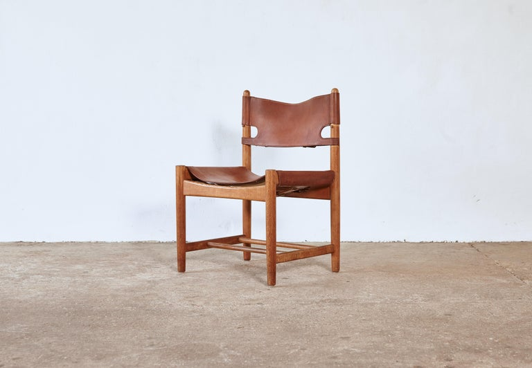 Set of early Børge 'Borge' Mogensen Spanish Dining Chairs, Denmark, 1960s 1