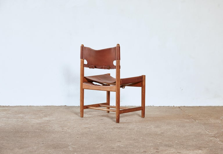 Set of early Børge 'Borge' Mogensen Spanish Dining Chairs, Denmark, 1960s 2