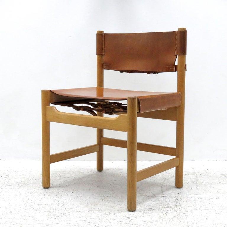 Scandinavian Modern Set of Børge Mogensen Dining Chairs, 1961 For Sale