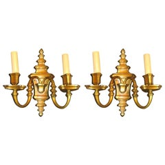 Set of Bronze Neoclassic Sconces, Sold in Pairs