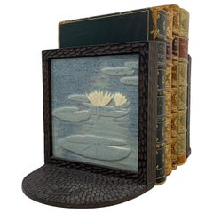 Set of Bronze & Tile Arts & Crafts Bookends