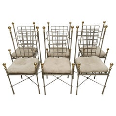 Mario Papperzini for Salterini Set of Campaign/Dining Chairs
