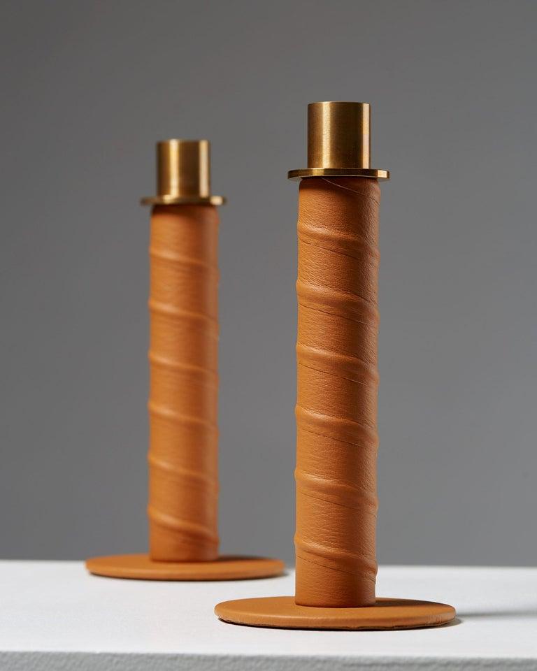 """Swedish Set of Candlesticks """"Herrgård"""" Designed by Alexander Lervik, Sweden, 2013 For Sale"""