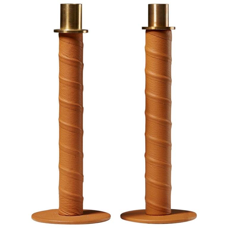 """Set of Candlesticks """"Herrgård"""" Designed by Alexander Lervik, Sweden, 2013 For Sale"""
