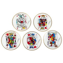 "Set of ""Carte a jouer"" Plates designed by Salvador Dali for Puiforcat"