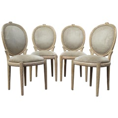 Set of Carved Wood Faux Bois Chairs