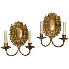 Set of Cast Bronze Caldwell Sconces, Sold in Pairs