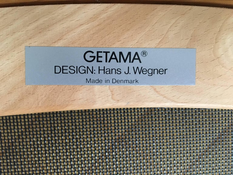 Set of Chairs by Hans Wegner for GETAMA, 1980s For Sale 3