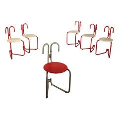 Set of Chairs for Pallucco Lacquered Metal Vintage, Italy, 1980s