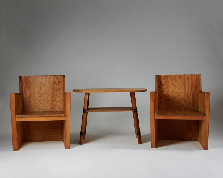 Swedish Set of Chairs Plus Table, Anonymous, Sweden, 1950s For Sale