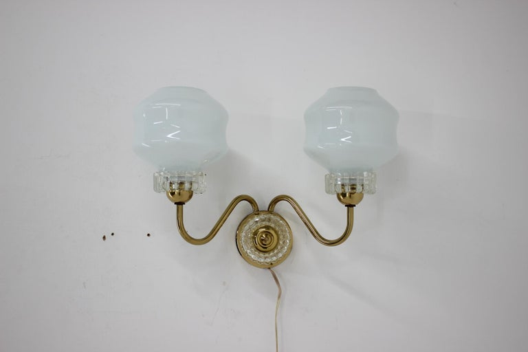 Mid-Century Modern Set of Chandelier and Wall Lamp, 1970s For Sale