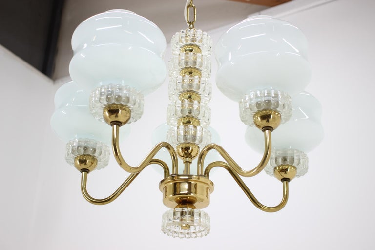 Late 20th Century Set of Chandelier and Wall Lamp, 1970s For Sale