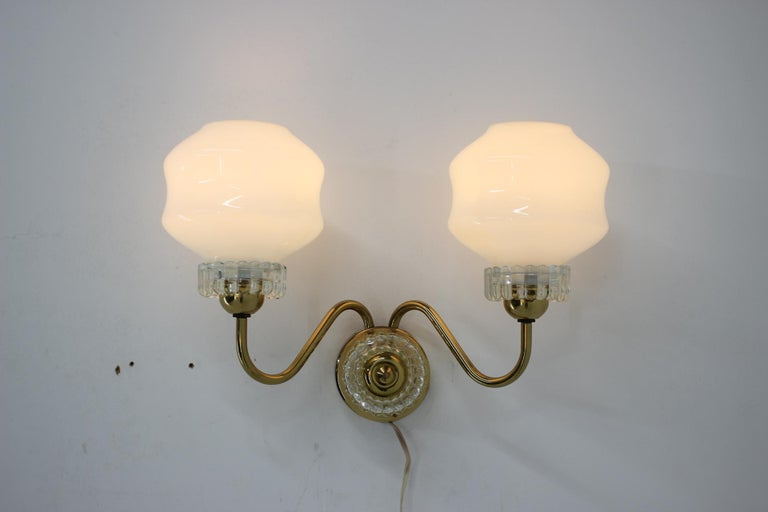 Set of Chandelier and Wall Lamp, 1970s For Sale 2