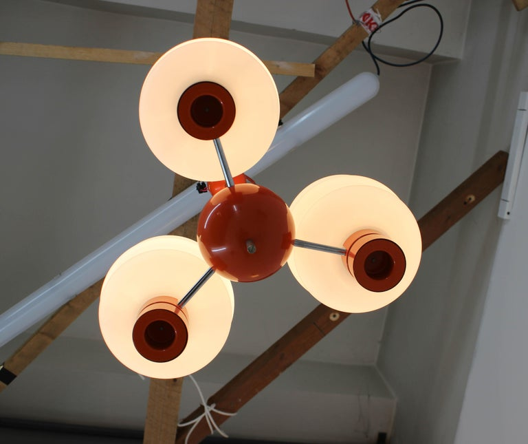 Set of Chandelier and Wall Lamp by Napako, 1970s For Sale 6