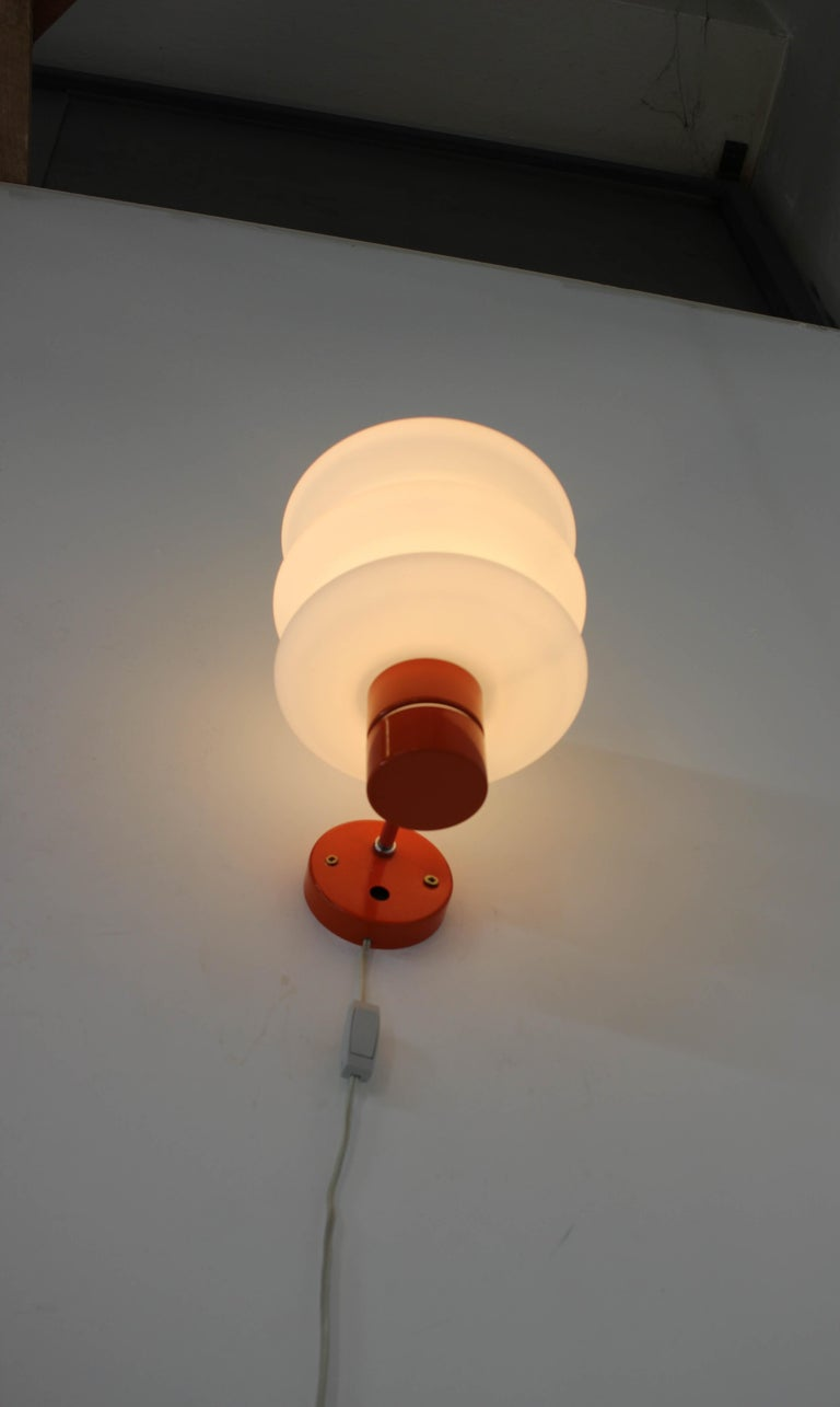 Set of Chandelier and Wall Lamp by Napako, 1970s For Sale 7