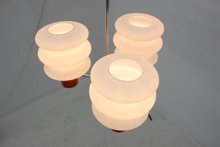 Set of Chandelier and Wall Lamp by Napako, 1970s In Good Condition For Sale In Praha, CZ