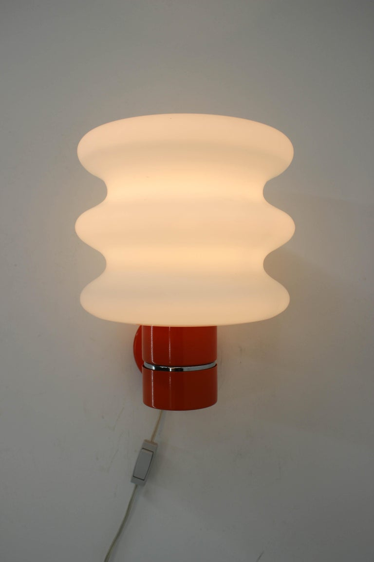 Late 20th Century Set of Chandelier and Wall Lamp by Napako, 1970s For Sale