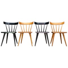 Set of Checkered Paul McCobb Planner Dining Chairs Nº1531 Midcentury Farmhouse
