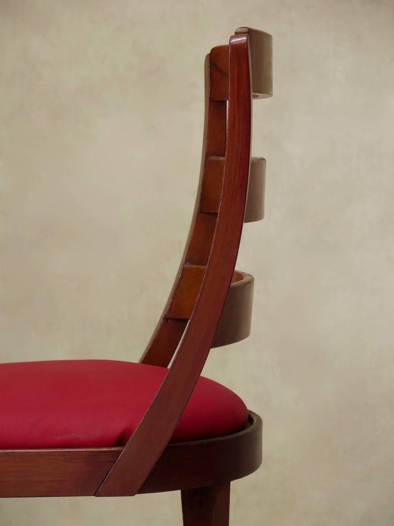 Set of Chinese Art Deco Style Dining Chairs, France, circa 1930s For Sale 2