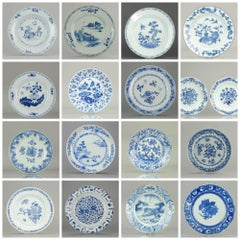 Set of Chinese Blue and White Plate for Wall Decoration Porcelain, China