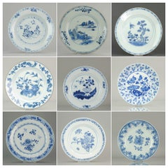 Set of Chinese Blue and White Plate for Wall Decoration Porcelain China