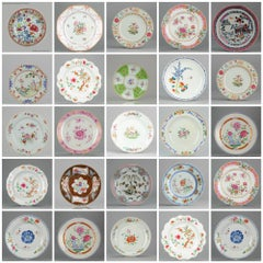 Set of Chinese Famille Rose Plates for Wall Decoration Porcelain, China