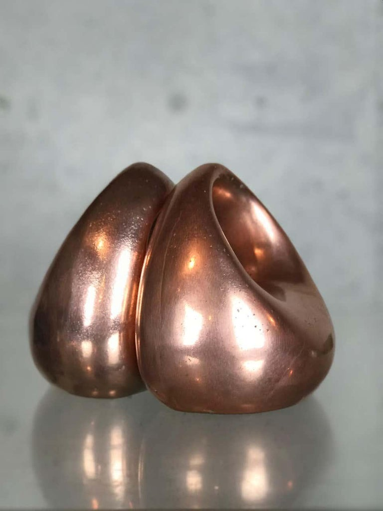 American Mid Century Modern Bookends in Copper by Ben Seibel for Raymor For Sale