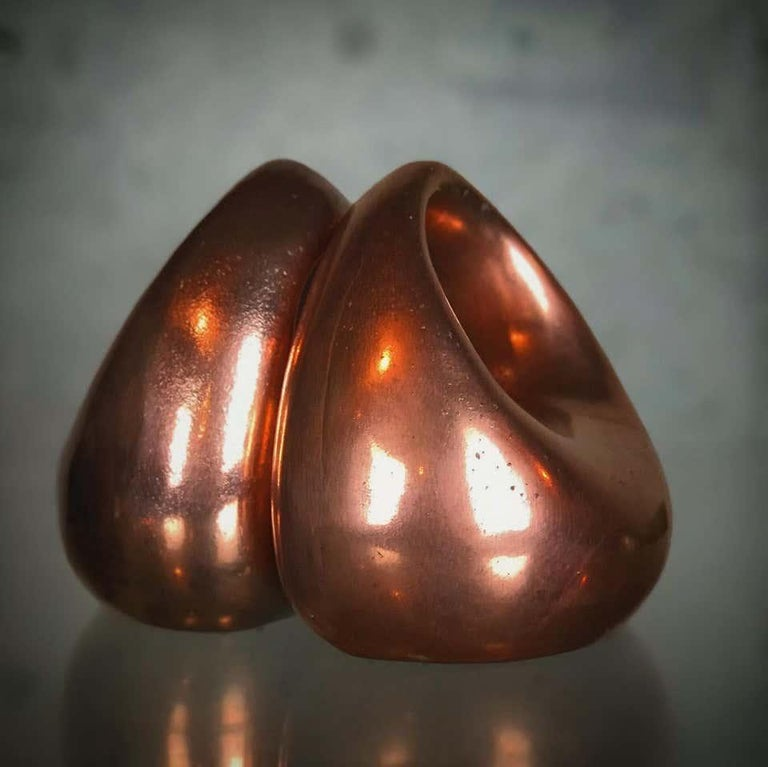 Mid-20th Century Mid Century Modern Bookends in Copper by Ben Seibel for Raymor For Sale