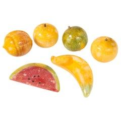 Set of Colorful Stone Fruit