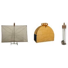 Set of Complete Modern Fireplace Accessories