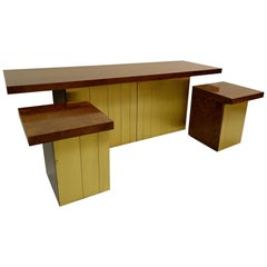 Set of Credenza and Nightstands by Luciano Frigerio