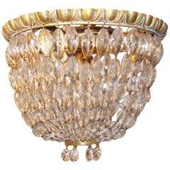 Set of Crystal Flush Mounted Light Fixtures, Sold Individually