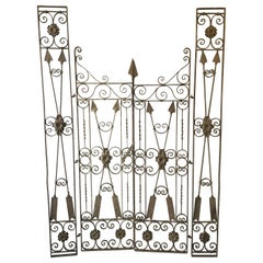 Set of Custom Neoclassical Iron Garden Gates