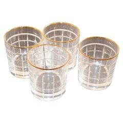 Set of Cut Crystal Double Old-Fashioned Whiskey Glasses by Ralph Lauren