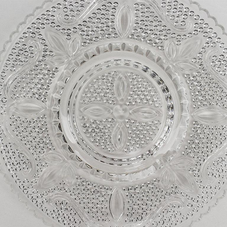 American Set of Cut Glass Salad Plates, Set of 6 For Sale