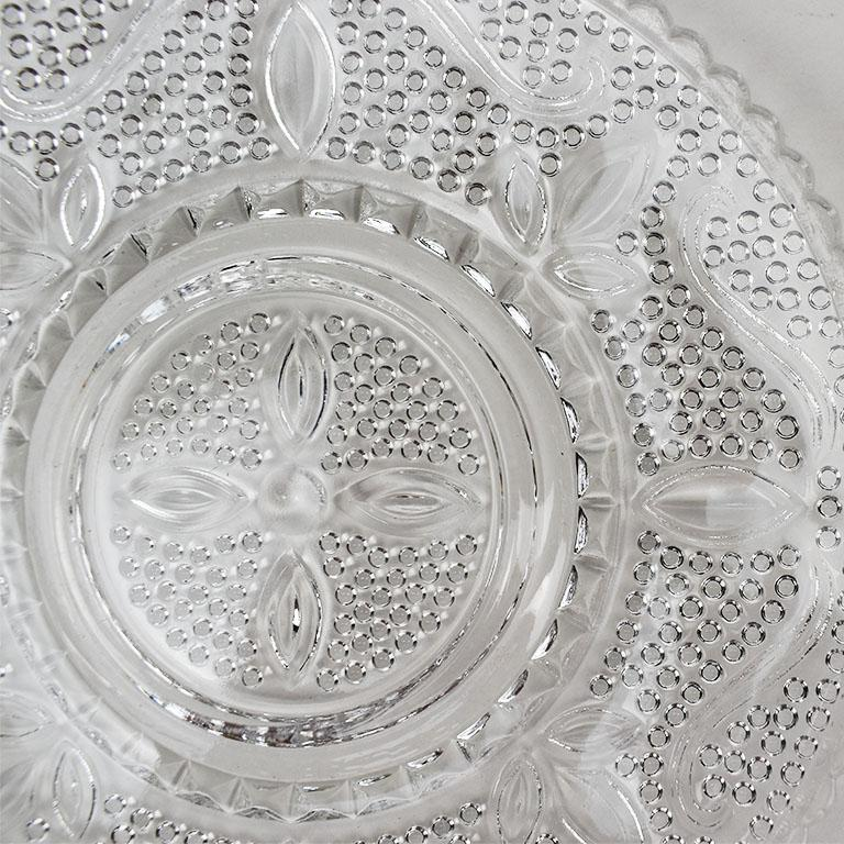 Set of Cut Glass Salad Plates, Set of 6 In Good Condition For Sale In Oklahoma City, OK
