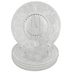 Set of Cut Glass Salad Plates, Set of 6