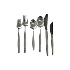 Set of Cypress Silverware Designed by Designed by Tias Eckhoff for Georg Jensen