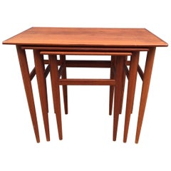 Set of Danish Midcentury Teak Nesting Tables, 1960s