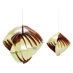 "Set of Danish Modern ""Konkylie"" Pendants by Louis Weisdorf, Denmark, 1960s"