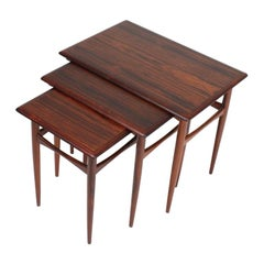 Set of Danish Modern Nesting Tables in Rosewood by Poul Hundevad, 1960s