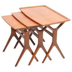 Set of Danish Modern Nesting Tables in Teak by Johannes Andersen, 1960s