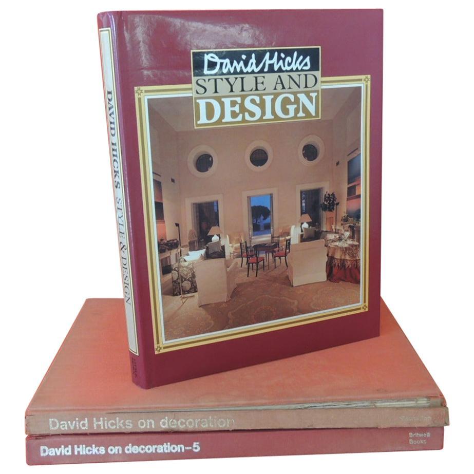 Set of David Hicks Vintage Hard-Cover Decorative Books