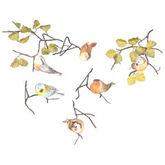 Set of Decorative Wall Bird