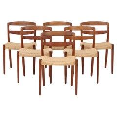 Set of Dining Chairs by Ejnar Larsen & Aksel Bender Madsen