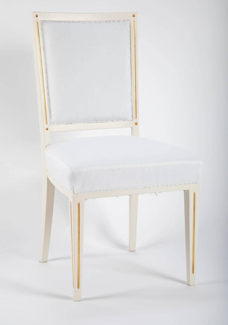 Set of Dining Chairs from Bellevue Palace/Berlin by Carl-Heinz Schwennicke For Sale